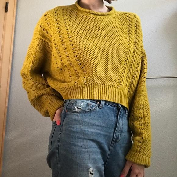 Urban Outfitters Sweaters Chunky Crop Sweater Poshmark